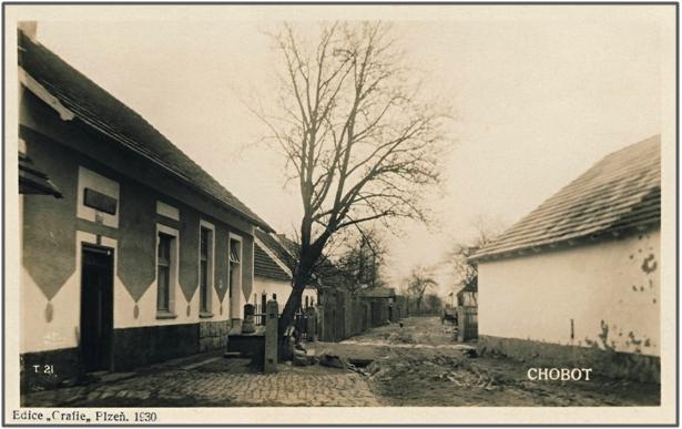 Chobot – pohlednice z roku 1930